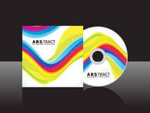 Abstract artistic colorful cd cover template. Vector illustration Royalty Free Stock Images