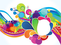 Abstract artistic colorful circle explode. Vector illustration Stock Image