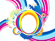 Abstract artistic colorful circle explode. Vector illustration Royalty Free Stock Photography
