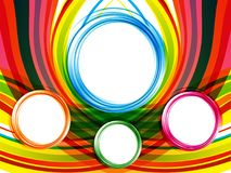 Abstract artistic colorful circles background. Vector illustration Stock Photography