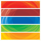 Abstract artistic colorful collection of banner templates. Vector graphic. This illustration consists of stripes of colorful website and presentation headers Stock Image