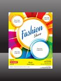 Abstract artistic colorful creative fashion flyer. Vector illustration Royalty Free Stock Photo