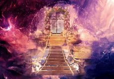 Abstract Artistic Colorful 3d Rendering Computer Generated Illustration Of A Heaven Gate That Leads to Another Dimension In A royalty free illustration