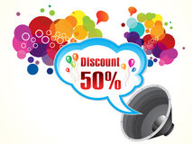 Abstract artistic colorful discount background. Vector illustration Stock Photography