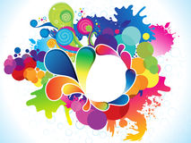 Abstract artistic colorful explode Stock Image