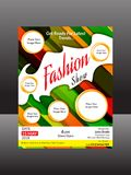 Abstract artistic colorful fashion flyer. Vector illustration Royalty Free Stock Photos