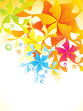 Abstract artistic colorful floral background Stock Photo