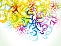 Abstract artistic colorful floral background Royalty Free Stock Image
