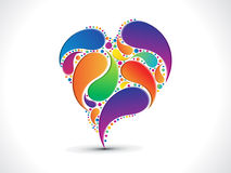 Abstract artistic colorful floral heart background. Vector illustration Stock Images