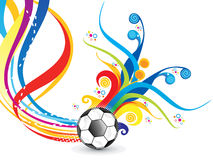Abstract artistic colorful football explode. Vector illustration Stock Images