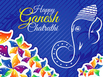 Abstract artistic colorful ganesh chaturthi background Stock Photography