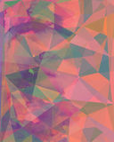Abstract artistic colorful  geometric polygonal background made. Using aguarelle  and blending modes Stock Photo