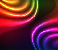 Abstract Artistic Colorful Glowing Neon Lights Effect Background. Abstract Artistic Colorful Neon Glowing Lights Effect Background Illustration Royalty Free Stock Photo
