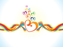 Abstract artistic colorful heart background. Vector illustration royalty free illustration