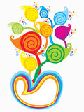 Abstract artistic colorful heart explode. Vector illustration Stock Photo