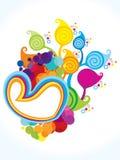 Abstract artistic colorful heart floral explode vektor abbildung