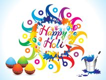 Abstract artistic colorful holi background. Vector illustration Royalty Free Stock Images