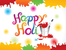 Abstract artistic colorful holi background. Vector illustration Stock Photos