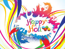 Abstract artistic colorful holi explode. Vector illustration Royalty Free Stock Photo