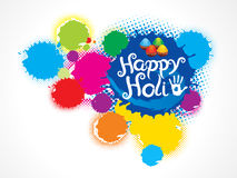 Abstract artistic colorful holi splash. Vector illustration Stock Photo