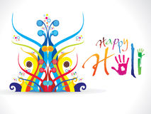 Abstract artistic colorful holi. Vector illustration Royalty Free Stock Photo