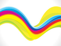 Abstract artistic colorful line wave background Stock Image