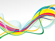 Abstract artistic colorful line wave background Stock Photography