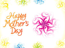 Abstract artistic colorful mother's day background. Vector illustration Royalty Free Stock Photo