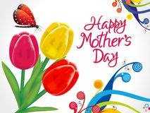 Abstract artistic colorful mothers day background Royalty Free Stock Images