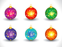 Abstract artistic colorful multiple christmas ball. Vector illustration Stock Photo