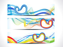 Abstract artistic colorful multiple web banner. Vector illustration Stock Image