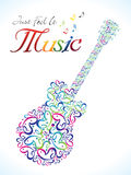 Abstract artistic colorful musical guitar. Vector illustration Royalty Free Stock Photography