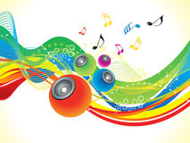 Abstract artistic colorful musical wave. Vector illustration Royalty Free Stock Images
