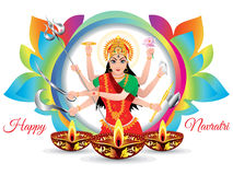 Abstract artistic colorful navratri background Stock Image