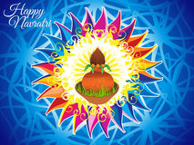 Abstract artistic colorful navratri background. Vector illustration Royalty Free Illustration