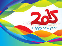 Abstract artistic colorful new year background. Vector illustration Stock Photography