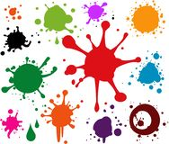 Abstract Artistic Colorful Painting Splash Drops Background. Illustration Royalty Free Stock Photography