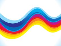 Abstract artistic colorful rainbow background. Vector illustration Stock Images