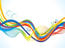 Abstract artistic colorful rainbow background. Vector illustration Stock Image