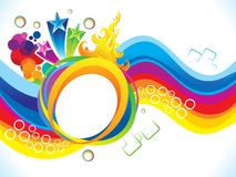 Abstract artistic colorful rainbow background Royalty Free Stock Photography
