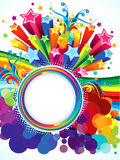 Abstract artistic colorful rainbow circle explode. Vector illustration Stock Illustration