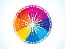 Abstract artistic colorful rainbow circle. Vector illustration Royalty Free Stock Photo