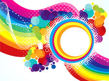 Abstract artistic colorful rainbow explode Stock Photo