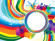 Abstract artistic colorful rainbow wave explode. Vector illustration Stock Image