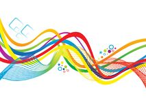 Abstract artistic colorful rainbow wave. Vector illustration Stock Photos