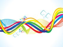 Abstract artistic colorful rainbow wave. Vector illustration Stock Image