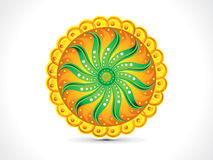 Abstract artistic colorful rangoli circle. Vector illustration Royalty Free Stock Photo