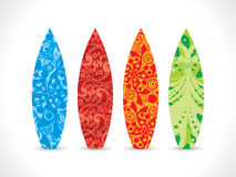 Abstract artistic colorful surf board. Vector illustration Royalty Free Illustration
