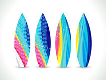 Abstract artistic colorful surf board Stock Images