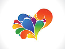 Abstract artistic colorful valentine heart. Illustration royalty free illustration